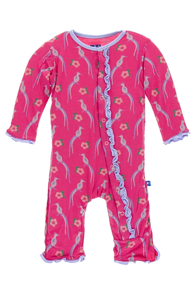 Kickee Pants Bird of Paradise Muffin Ruffle Coverall