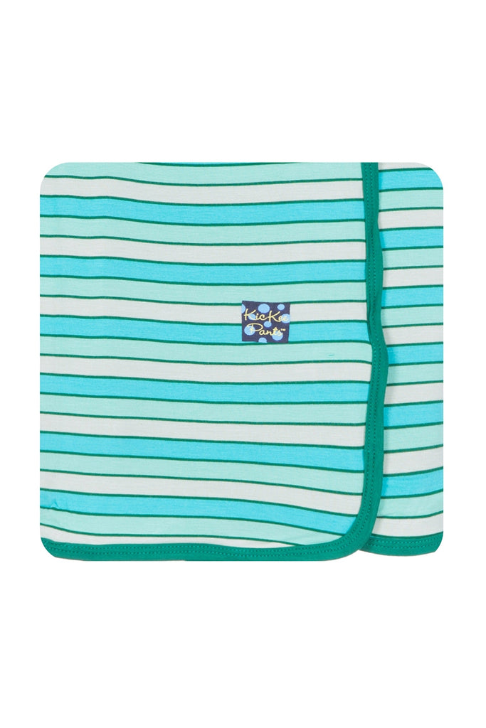 Kickee Pants Tropical Stripe Swaddling Blanket