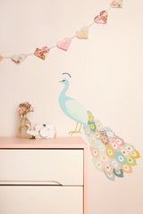 Peacock Plumage - Fabric Wall Decals