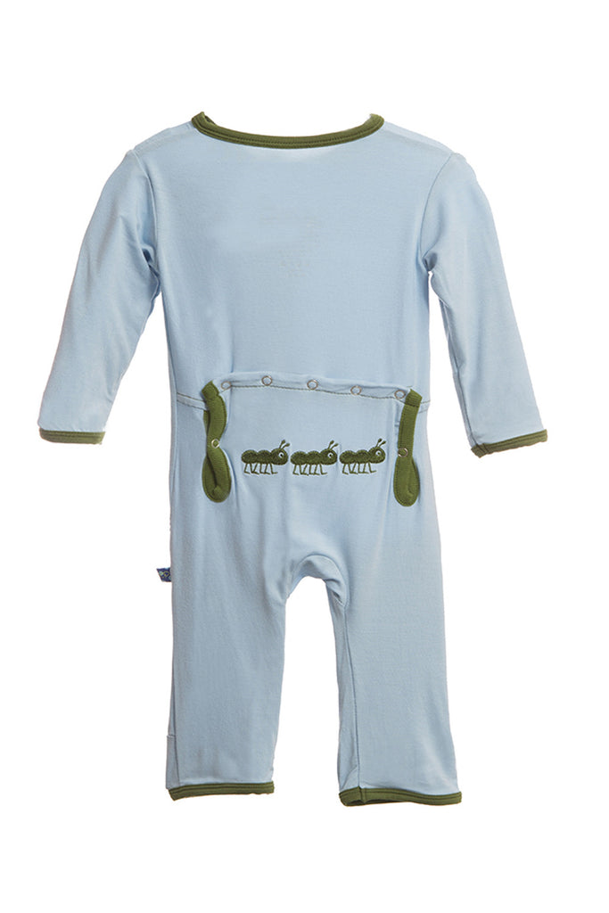 KicKee Pants Pond Ant Applique Coverall