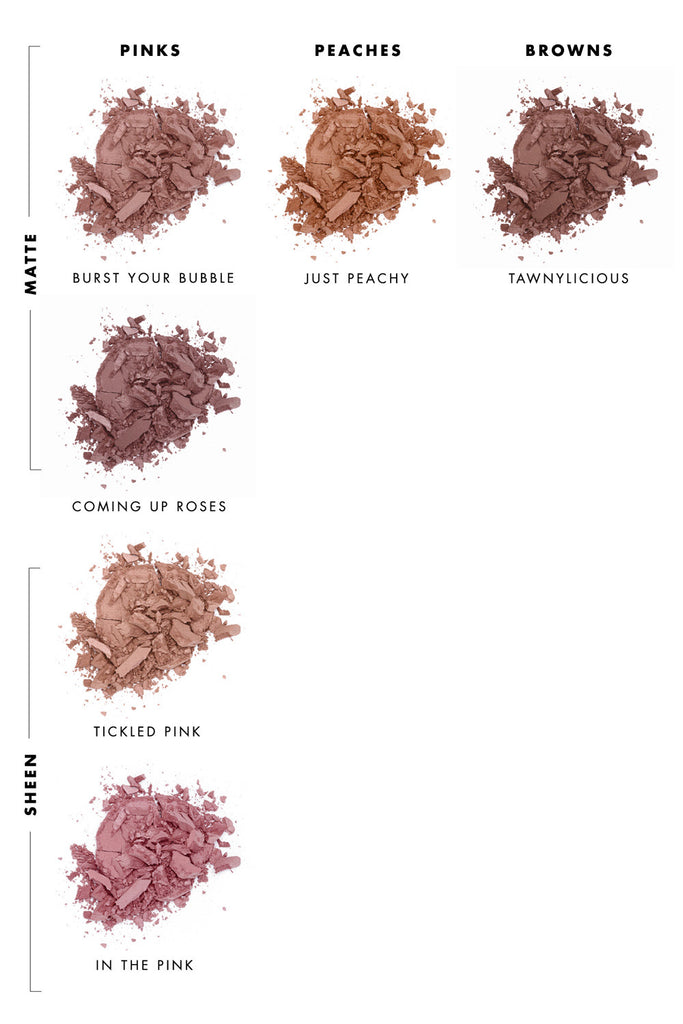 Pressed Blush Shade Guide