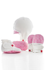 Goumi Newborn Set Pink Leaves