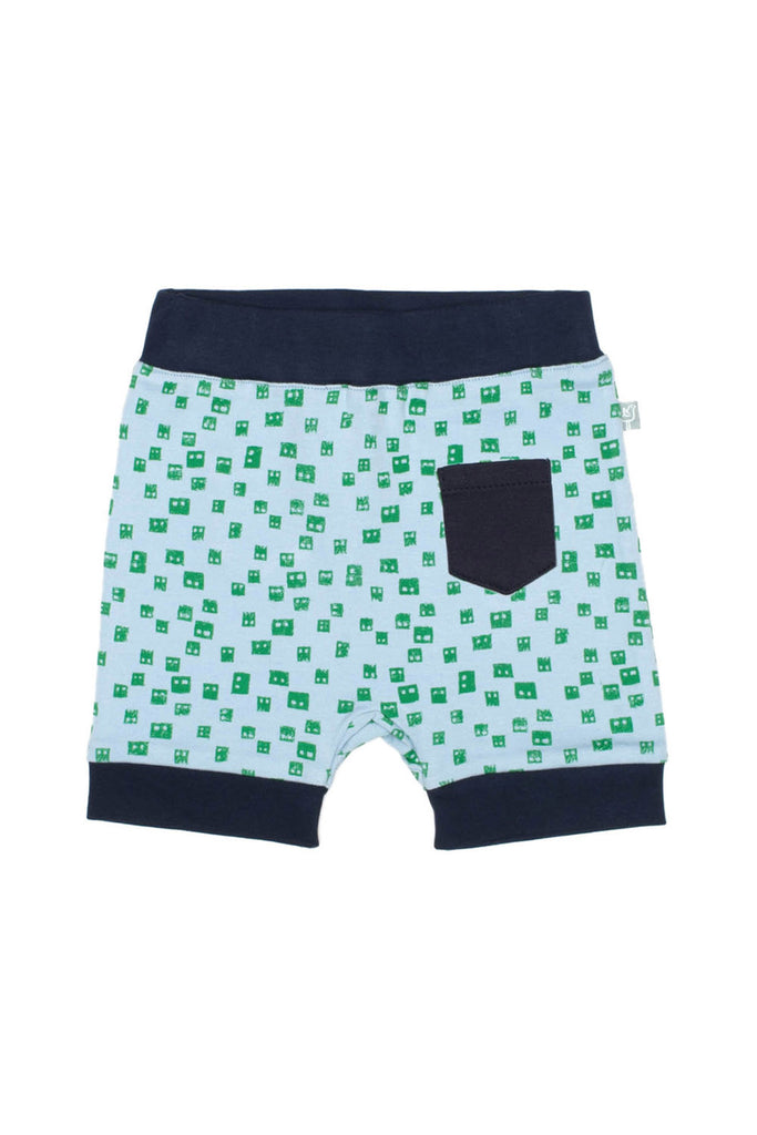 Finn + Emma Bermuda Shorts Backside - Robot Head Print
