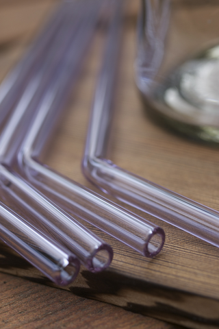 Glass Drinking Straws - Lavender