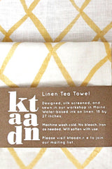 Ktaadn Handmade Linen Tea Towel, Golden Net