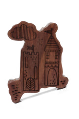 Finn + Emma Wood Rattle Teether - Fairlytale Castle