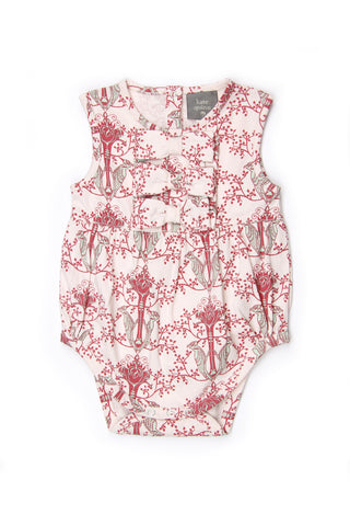 Kate Quinn Woodland Wallpaper Ruffle Bow Bodysuit