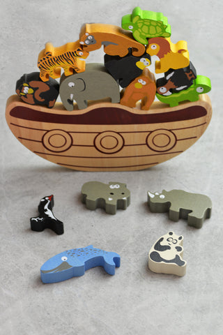 BeginAgain Balance Boat Endangered Animals Puzzle