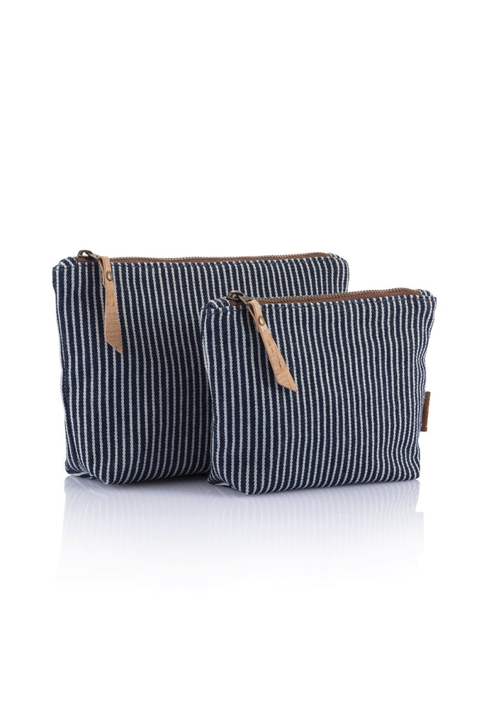 Bambu Travel Zip Pouch - Organic Cotton Stripe