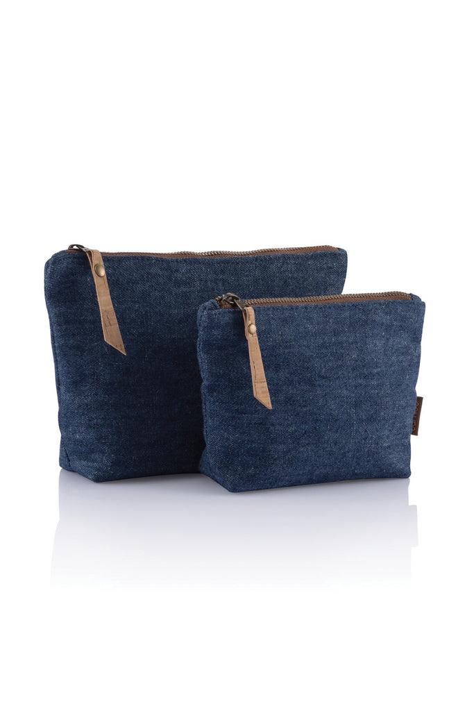 Bamby Travel Zip Pouch - Denim Hemp