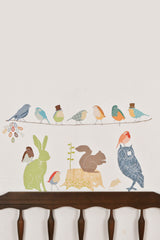 Earthly Forest Critters - Fabric Wall Decals