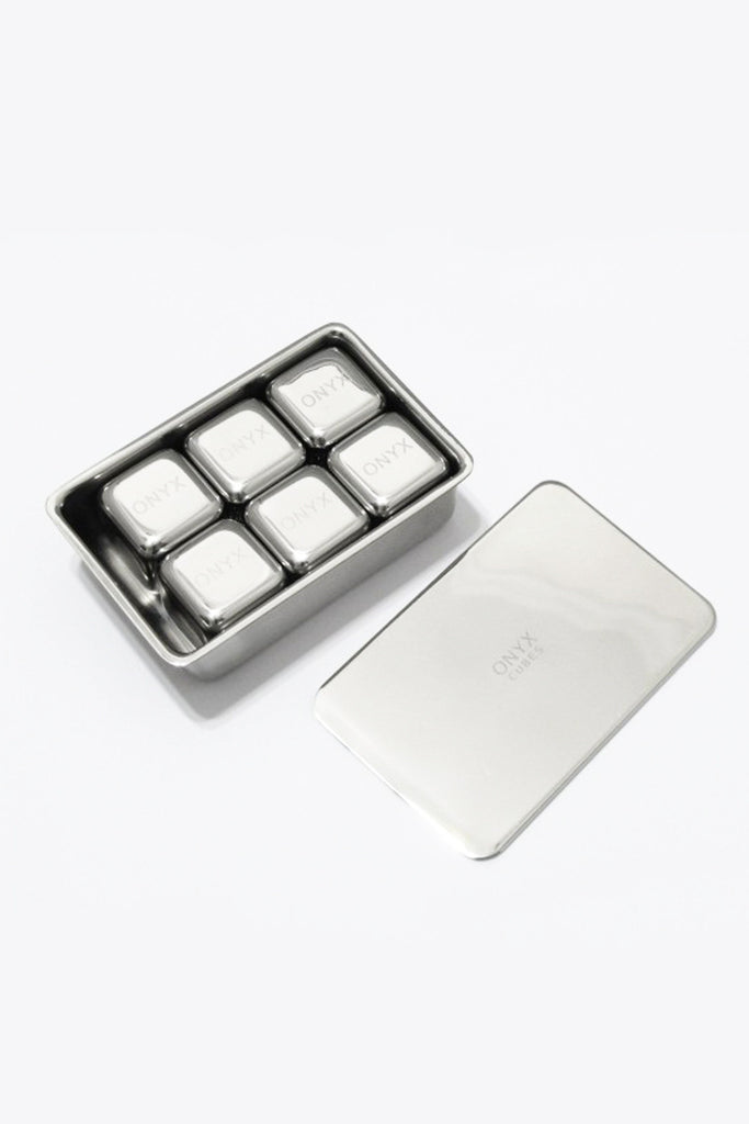 Onyx Stainless Steel Ice Cubes