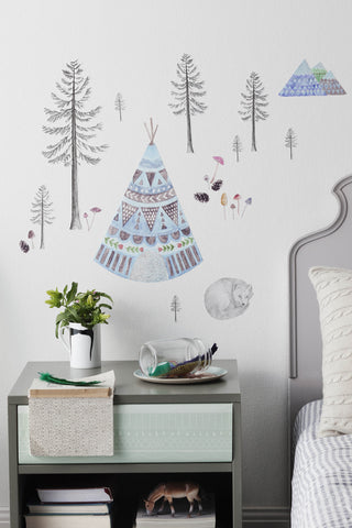 Love Mae Sleeping Fox - Fabric Wall Decals