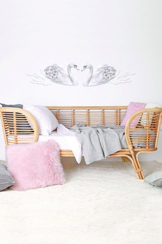 Love Mae Swans - Fabric Wall Decals