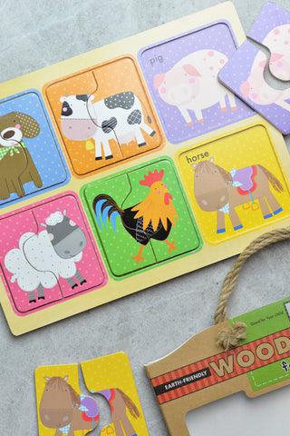 Innovative Kids Farm Friends - Chunky Wooden Puzzle