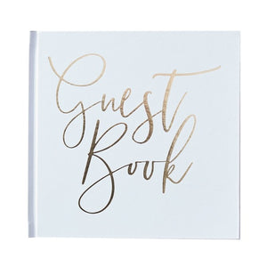 Wedding Guest Book Metallic