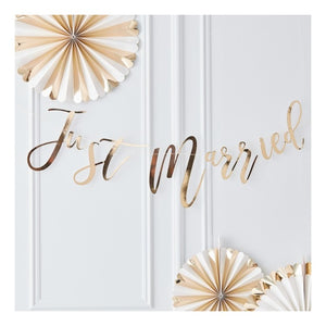 Just Married Bunting Metallic