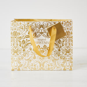 Magical Christmas Gold Gift Bag Medium