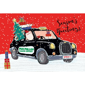 Macmillan Christmas taxi cards (Pack of 10)