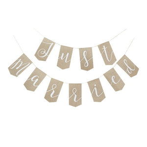 Just Married Bunting Kraft