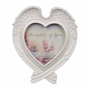 Thoughts of You Heart Shaped Wing Photo Frame