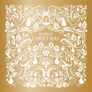 Golden Christmas cards (Pack of 10)