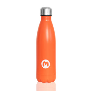Orange Metal Water Bottle