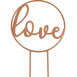 Copper Love Hoop Cake Topper