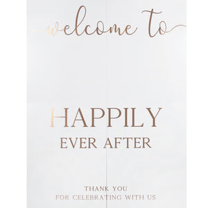 Copper Foiled Customisable Welcome Sign