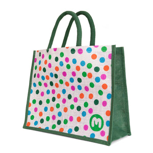 Spotty Juco White shopper bag