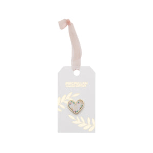 Floral Heart Pin Badge Wedding Favour (Pack of 10)