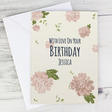 Personalised Rose Gold Floral Card