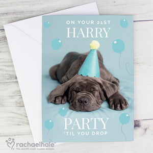 Personalised 'Party 'Til You Drop' Card