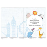 Personalised London Animals Bus Birthday Card