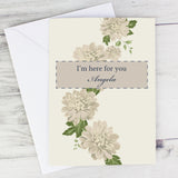 Personalised I'm Here for You card