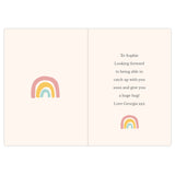 "Personalised ""After every storm comes a rainbow"" Card"