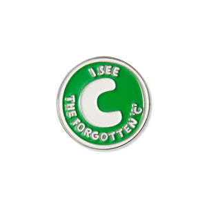 Forgotten C Pin Badge