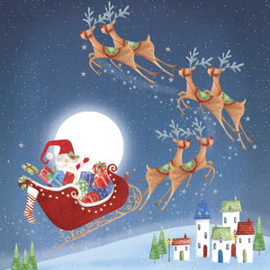 Santa's Journey Christmas Cards (Pack of 10)