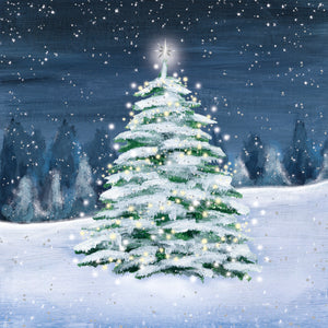 Moonlit Tree Christmas Cards (Pack of 10)