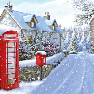Snowy Villages Christmas Cards (Pack of 20)