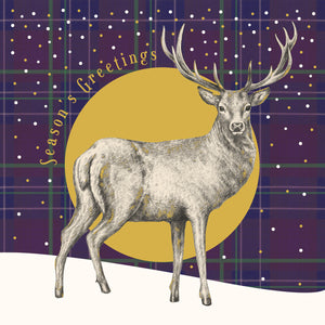 Moonlit Stag Christmas Cards (Pack of 10)