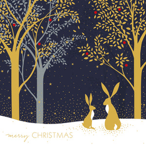 Sara Miller Forest Hares Christmas Cards (Pack of 10)