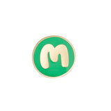 M Round Badge Gold