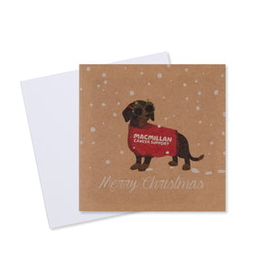 Daschund Christmas Card (Pack of 10)