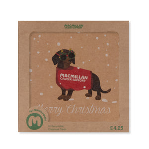 Dachshund Christmas Card (Pack of 10)