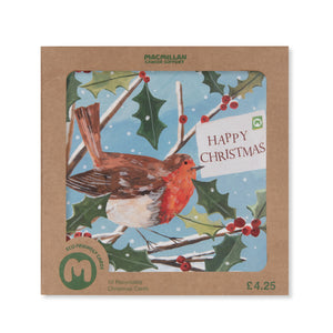 Traditional Robin Christmas Card (Pack of 10)