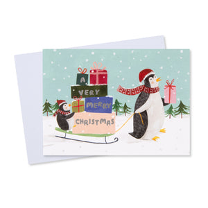Penguin Christmas Card (Pack of 10)