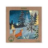 Moonlit Tree and Fox Christmas Card (Pack of 10)