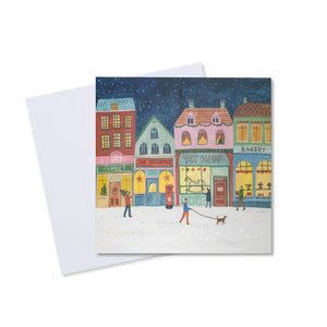 Night Village Christmas Card (Pack of 10)