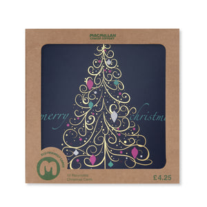 Premium Gold Tree Christmas Card (Pack of 10)